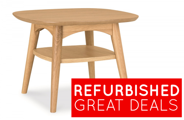 Refurbished Oslo Oak Lamp Table