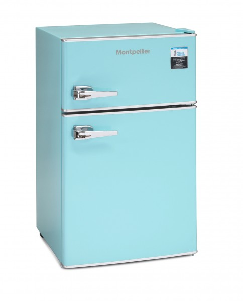 Montpellier Mini Retro Blue Fridge Freezer
