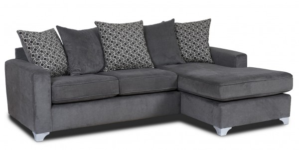 Alexis Grey Chaise Sofa