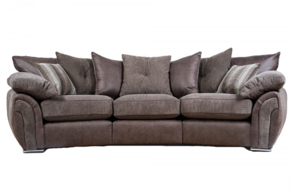 Majestic Mink Curved Sofa