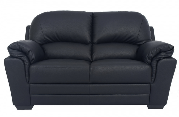 Nevada Black 2 Seater Sofa