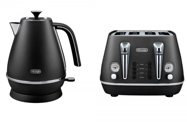 Delonghi Distinta Kettle and Toaster Black