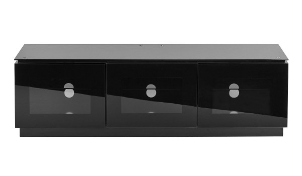 1500 Black Gloss TV Cabinet