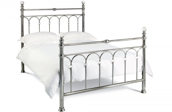 Laila Antique Nickel King Bed