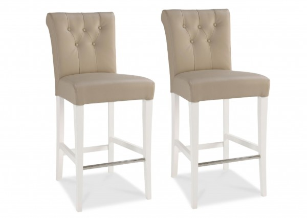 Melody Upholstered Bar Stool Pair