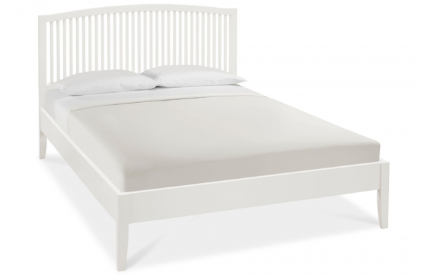 Willow King White Bed