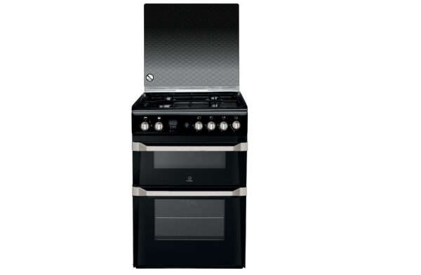 Indesit 60cm Black Gas Cooker