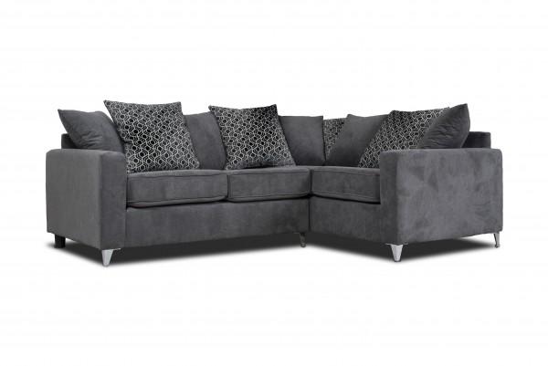 Alexis Grey Corner Sofa | PerfectHome