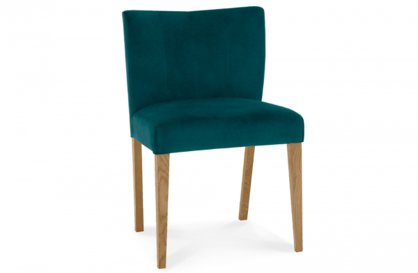 Lucie Low Back Upholstered Chair Sea Green Pair