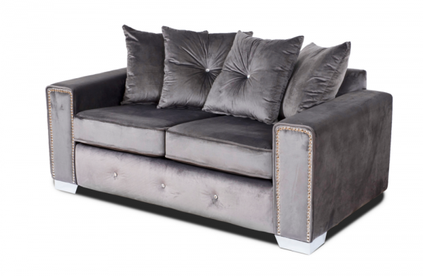 Amber Grey 2 Seater Sofa