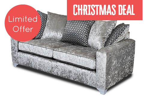Ruby Silver 3 Seater Sofa